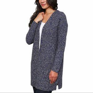 New blue knit duster sweater size XXL